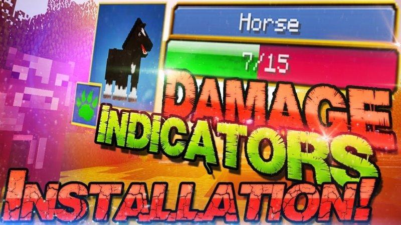 Мод на индикатор урона - Damage Indicator 1.2.13, 1.2, 1.1.5, 1.1, 1.0