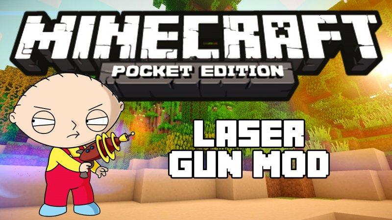Мод на лазерное оружие - Laser Gun 1.4, 1.2.13, 1.2.10, 1.2, 1.1.5