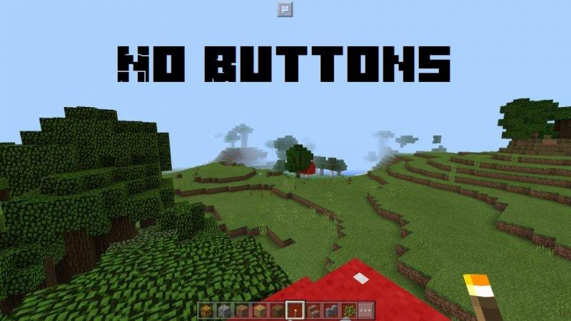 No Buttons - текстуры убирают кнопки 1.4, 1.2.13, 1.2, 1.1.5